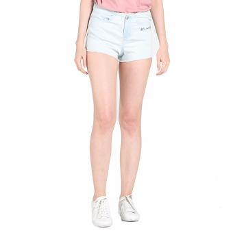 OXYGEN Denim Shorts with Embroidery (Blue)
