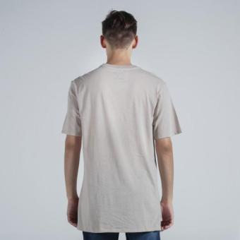 OXYGEN Embroidered Semi-Fit Tee (Taupe) - 3