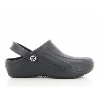 Oxypas SMOOTH (Black) Unisex Clogs Shoes for Doctors, Nurses, Medical & Healthcare Professionals, Hospital, Chef, Kitchen, Spa, Laundry, Hotel, Beauty & Wellness Personnel