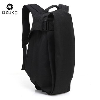 OZUKO Men Backpack Anti-theft Rucksack School Bag Casual Travel Waterproof Backpacks Male Laptop Computer Bag (Black) - intl