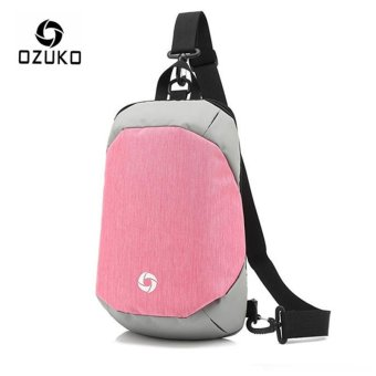 OZUKO Unisex Chest Pack Messenger Bag Creative Anti-theft Bag Oxford Shoulder Bag Casual Fashion Crossbody Bags (Pink) - intl Price Philippines