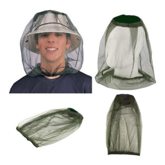 PAlight Anti-mosquito Cap Hedging Insect Mesh Head Net FaceProtector Hat For Outdoor Camping - intl