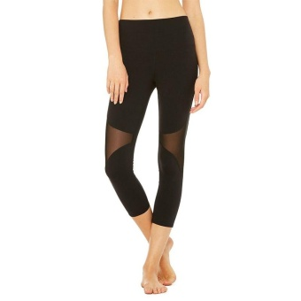 PAlight Women Sport Fitness Leggings Elastic Gym Mesh TightLeggings Yoga Pants (style:Capris) - intl