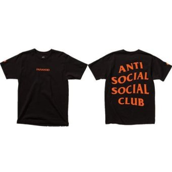Paranoid Men's Short Sleeve 'Anti Social Club' T Shirt (Color Black) - intl
