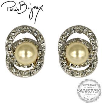 Paris Bijoux E111341A Earrings (Silver/Acryllic Pearl)