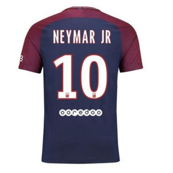 Paris St German FC Home Shirt Jersey 2017-18 NO.10 Neymar Football Jersey Soccer Jersey with Free Shorts Original Logo - intl