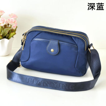 Paris style nylon New style cloth bag cross-body women's bag (Dark blue color)