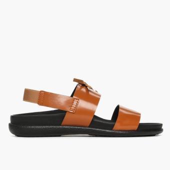 Parisian Ladies Alysa Flat Sandals (Tan)
