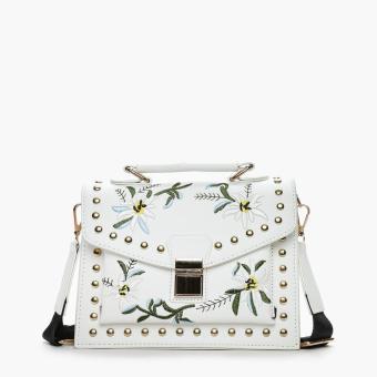 Parisian Ladies Unika Cross Body Bag (White)