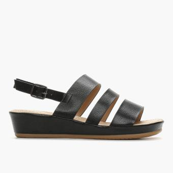 Parisian Ladies Uvee Flat Sandals (Black)