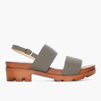 Parisian Ladies Zana Heeled Sandals (Dark Gray)