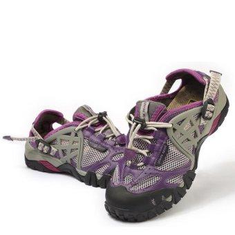 PATHFIDNER Women's Trail Sandals Waterproof Hiking Shoes LightMountain Climbing Shoes Wading Shoes-Purple - intl - 2