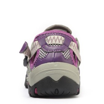 PATHFIDNER Women's Trail Sandals Waterproof Hiking Shoes LightMountain Climbing Shoes Wading Shoes-Purple - intl - 5