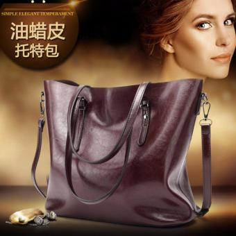 PATHFINDER Fashion Leather handbag ladies shoulder bag(Coffee) - intl