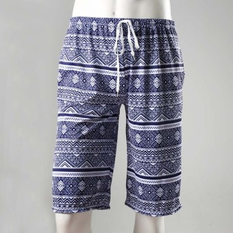 Pattern Korean blue and white porcelain piece skirt halter swimsuit (Men's beach pants) Price Philippines