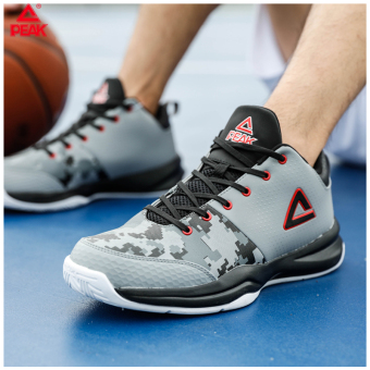 Peak autumn New style breathable non-slip sports shoes basketball shoes (In gray/Black)