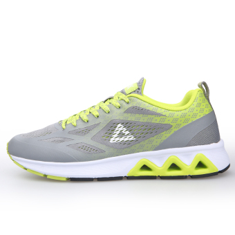 Peak casual autumn and winter New style breathable I shoes men's shoes (Pigeon gray/acid green)