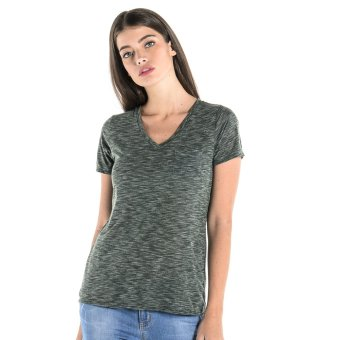 PENSHOPPE Basic V-Neck Tee (Bottle Green)