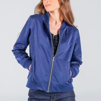 Penshoppe Bomber Jacket With Embroidery (Blue) - 4