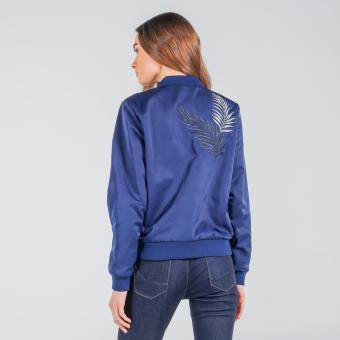 Penshoppe Bomber Jacket With Embroidery (Blue) - 3
