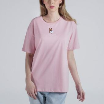 Penshoppe Boyfriend Fit Tee With Embroidery (Blush)