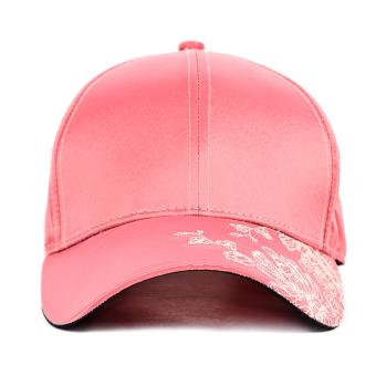 PENSHOPPE Pre-Curved Visor W/ Buckle Closure (Oriental Flower)(Pink)
