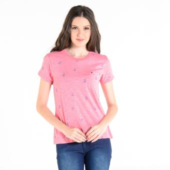 Penshoppe Printed Drop-Shoulder Tee (Pink)