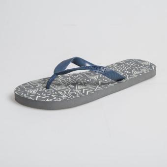 Penshoppe Printed Flip Flops (Dark Gray)