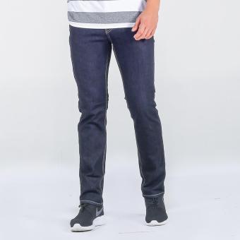 Penshoppe Raw Denim Slim Jeans (Blue) - 4