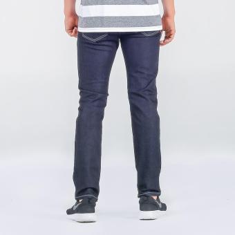 Penshoppe Raw Denim Slim Jeans (Blue) - 3