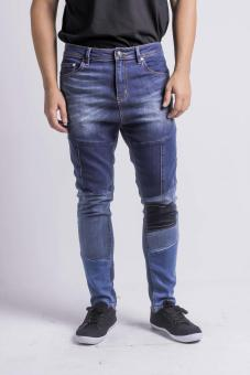 Penshoppe Re-Tooled Mid Rise 5-Pocket Jeans (Blue)