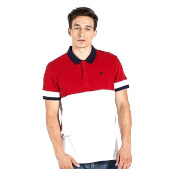 Penshoppe Regular Polo with Cut And Sew And P Logo (White)
