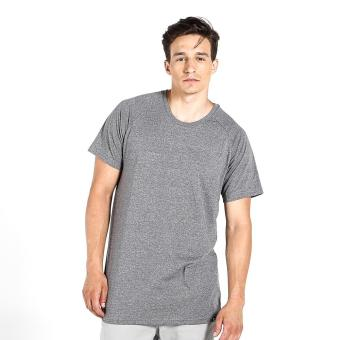 Penshoppe Relaxed Fit Tee With Color Blocking (Gray)