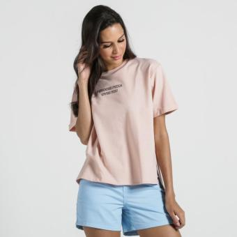 PENSHOPPE Semi Fit Tee With Graphic Print (Peach)