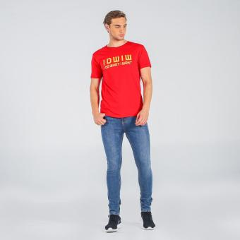 Penshoppe Semi Fit Tee With Graphic Print (Red)