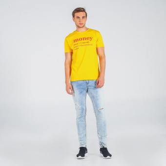Penshoppe Semi Fit Tee With Graphic Print (Yellow)