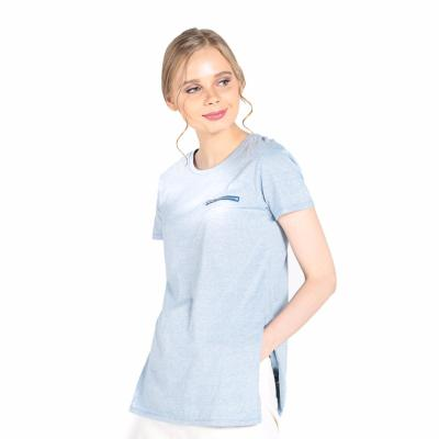 Penshoppe Semi Fit Tee With Zipper Detail (Blue) Price Philippines