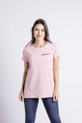 Penshoppe Semi Fit Tee With Zipper Detail (Red)