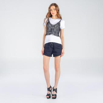 Penshoppe Shirt W/ Overlapping Lace Top (White)