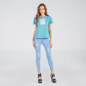 Penshoppe Tee With Graphic Print (Sea Green) Price Philippines