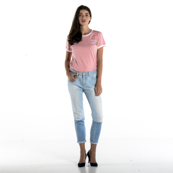 PENSHOPPE Two-toned Cigarette Fit Jeans (Faded Denim) - 4