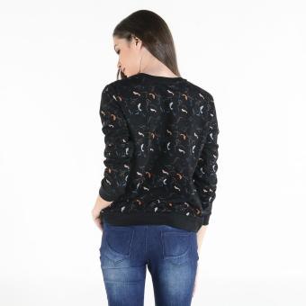 PENSHOPPE Women's Printed Pullover (Black) - 3