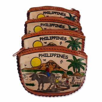 Philippines Souvenir Leather Coin Purse - Set of 4 Price Philippines