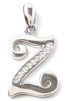Piedras Antiqua Z Monogram Pendant (Silver)