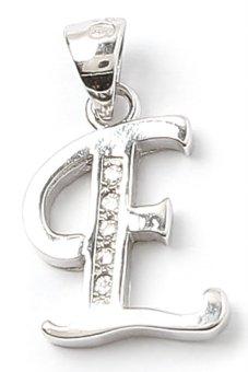 Piedras Rever E Monogram Pendant (Silver)