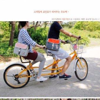 Pilot B-04 Korean Student Fashion Style Nylon MultifunctionalTravel Shoulder Bag Cross Body Bag Best Gift(Dark Grey/Orange) - 3