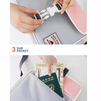 Pilot B-04 Korean Student Fashion Style Nylon MultifunctionalTravel Shoulder Bag Cross Body Bag Best Gift(Dark Grey/Orange) - 2