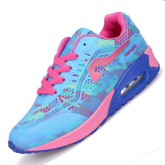 PINSV Air Women Breathable Sport Shoes Running Shoes (Blue)