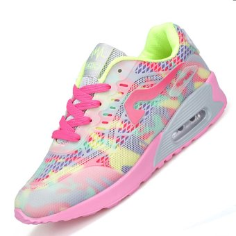 PINSV Air Women Breathable Sport Shoes Running Shoes (Pink)