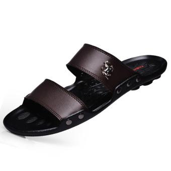 PINSV Men Fashion Sandals (Brown) - 2